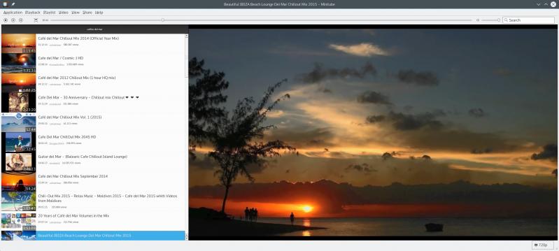 KDE+Plasma & minitube + youtube API-key   TAK